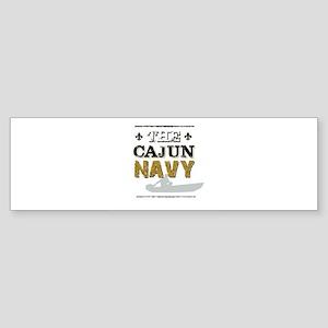 The Cajun Navy Skiff Bumper Sticker