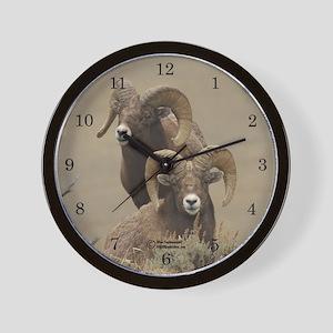 """Pharaohs"" Big Horn Sheep Wall Clock"