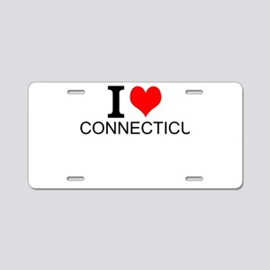 I Love Connecticut Aluminum License Plate