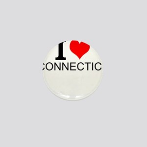 I Love Connecticut Mini Button