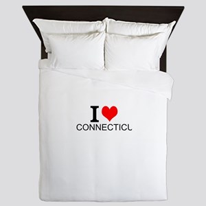 I Love Connecticut Queen Duvet