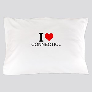 I Love Connecticut Pillow Case