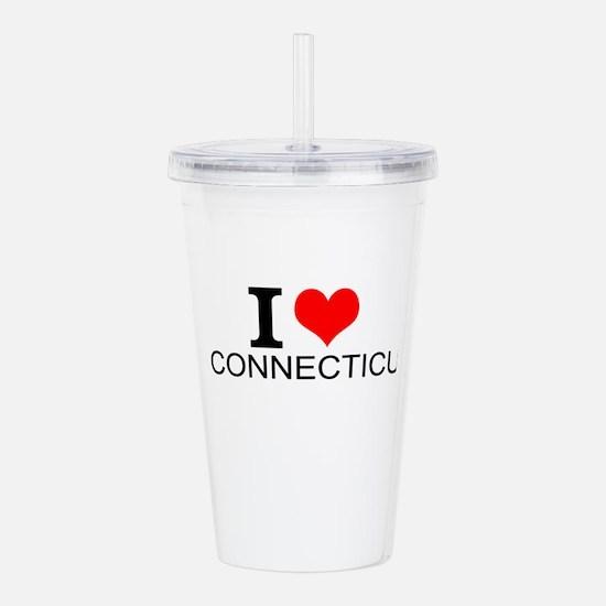 I Love Connecticut Acrylic Double-wall Tumbler