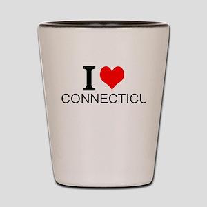 I Love Connecticut Shot Glass