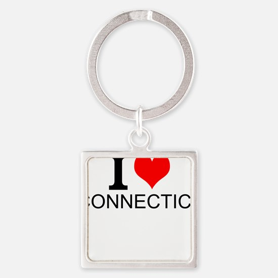 I Love Connecticut Keychains
