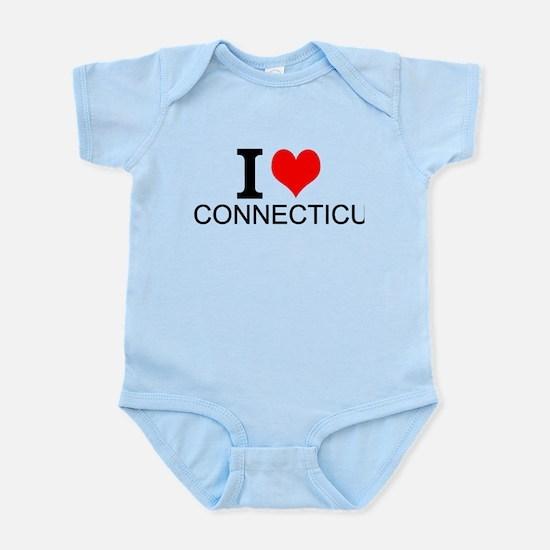 I Love Connecticut Body Suit