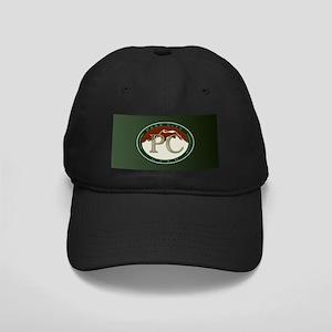 Park City Logo Medallion on Green Black Cap