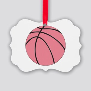 Pink Basketball for Girls Ornament