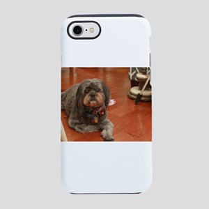 Kna Lhasa type dog on kitche iPhone 8/7 Tough Case