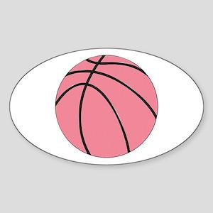 Pink Basketball for Girls Sticker