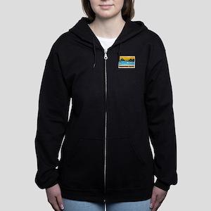 Huntington Beach Pier Women's Zip Hoodie