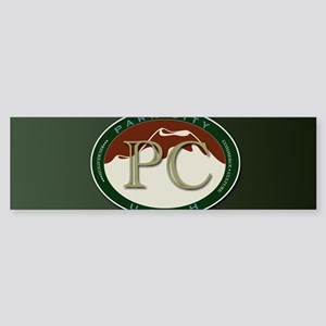 Park City Logo Medallion on Green Bumper Sticker