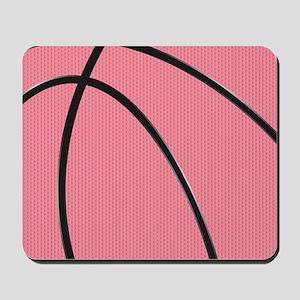 Pink Basketball for Girls Mousepad