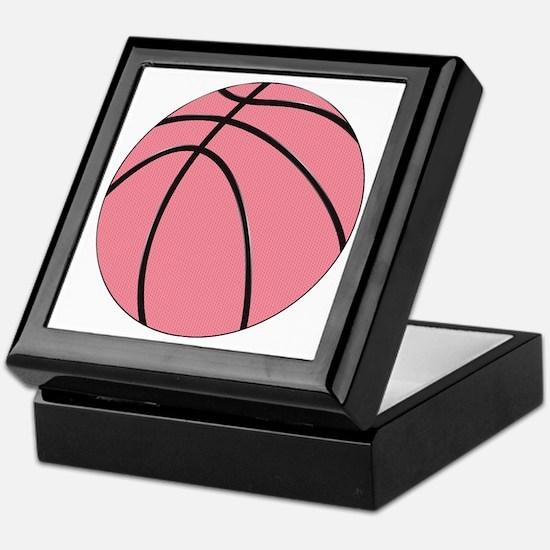 Pink Basketball for Girls Keepsake Box