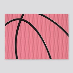 Pink Basketball for Girls 5'x7'Area Rug