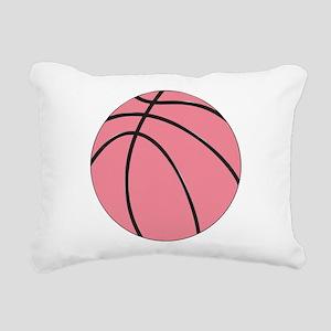 Pink Basketball for Girls Rectangular Canvas Pillo