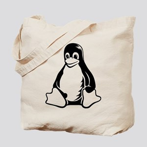 linux tux penguin Tote Bag