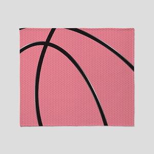 Pink Basketball for Girls Throw Blanket