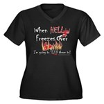 HELL FREEZES DARK DEVIL Plus Size T-Shirt