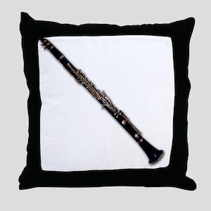 ClarinetatAngle Throw Pillow