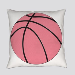 Pink Basketball for Girls Everyday Pillow