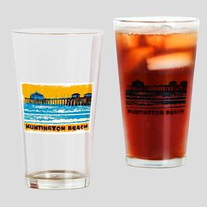 Huntington Beach Pier Drinking Glass