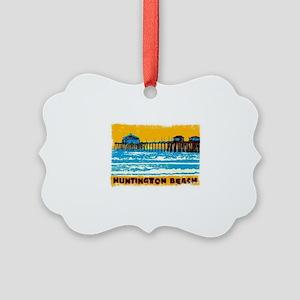Huntington Beach Pier Picture Ornament