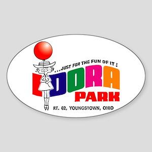 idora park Sticker (Oval)