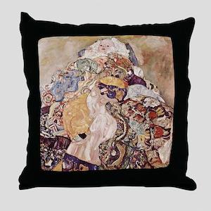 Gustav Klimt Baby Cradle Throw Pillow