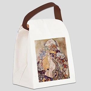 Gustav Klimt Baby Cradle Canvas Lunch Bag