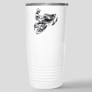 Camouflage Grey Snowmob Stainless Steel Travel Mug