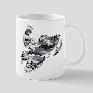 Camouflage Grey Snowmobiler Mug