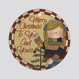 Merry Christmas To You And Yours Ornament (Round)
