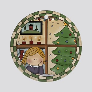 Looking For Santa Ornament (Round)