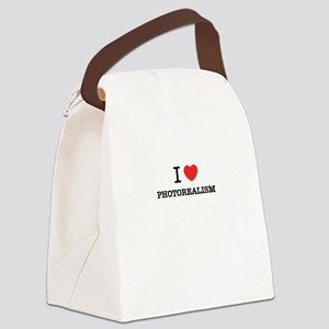 I Love PHOTOREALISM Canvas Lunch Bag