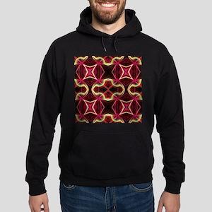 boho chic burgundy geometric Hoodie (dark)