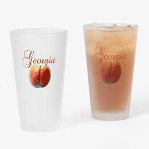 Georgia Peach Drinking Glass