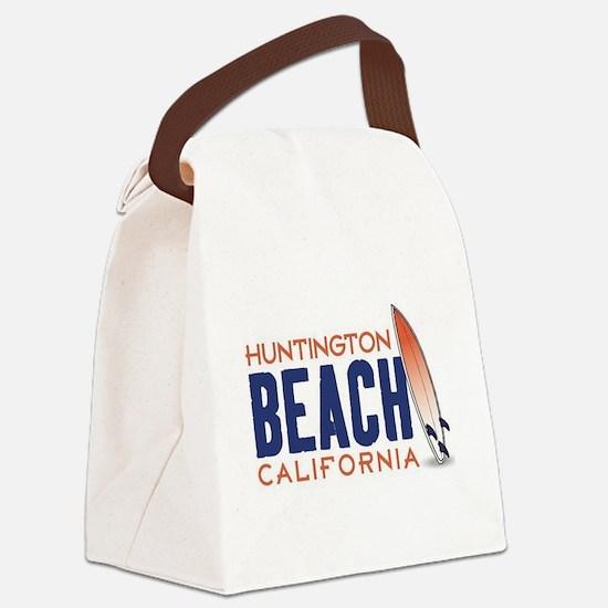 Huntington Beach, CA Canvas Lunch Bag
