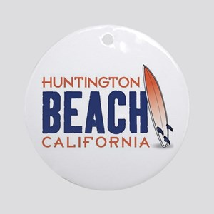 Huntington Beach, CA Round Ornament
