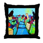 Throw Pillow<br>Chicago River View 1999