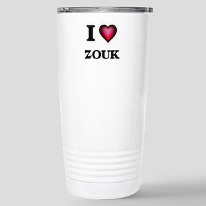I Love ZOUK Stainless Steel Travel Mug