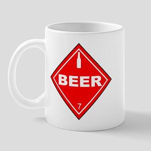 Beer Hazardous Material Sign Mug