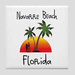 Navarre Beach Florida Tile Coaster