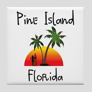Pine Island Florida Tile Coaster
