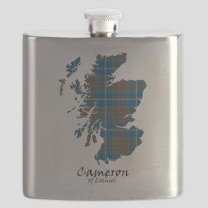 Map-CameronLochiel hunting Flask