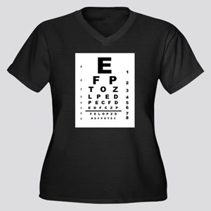 Eye Test Chart Plus Size T-Shirt