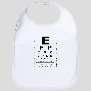 Eye Test Chart Bib