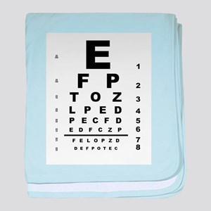 Eye Test Chart baby blanket