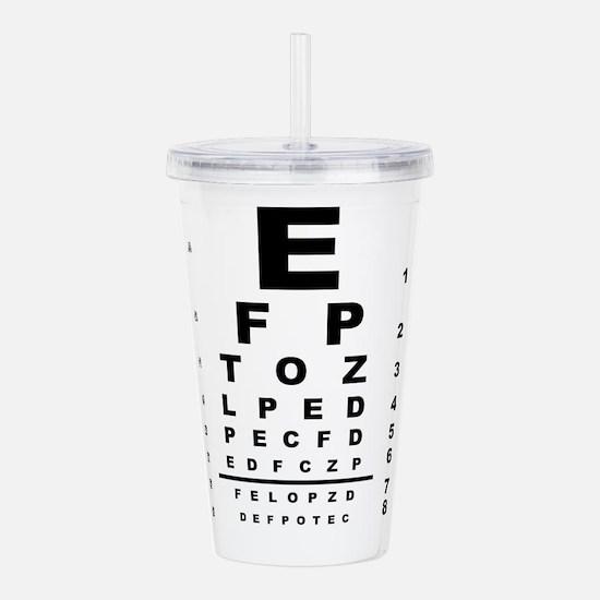 Eye Test Chart Acrylic Double-wall Tumbler