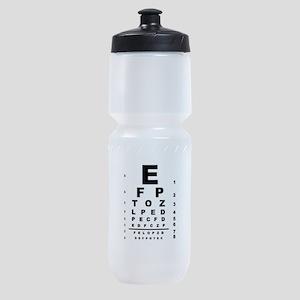 Eye Test Chart Sports Bottle